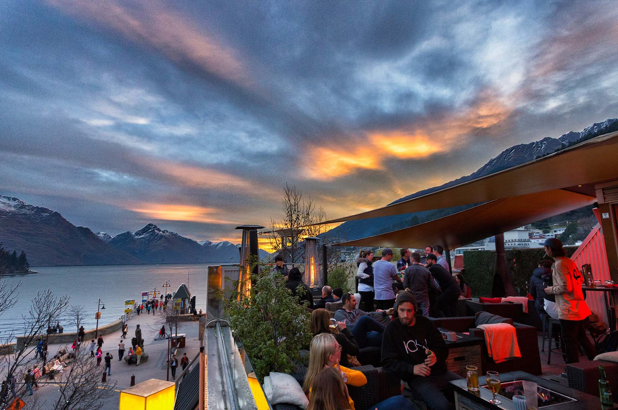 Sundeck - The perfect place to sit around the fire and watch the sun go down!